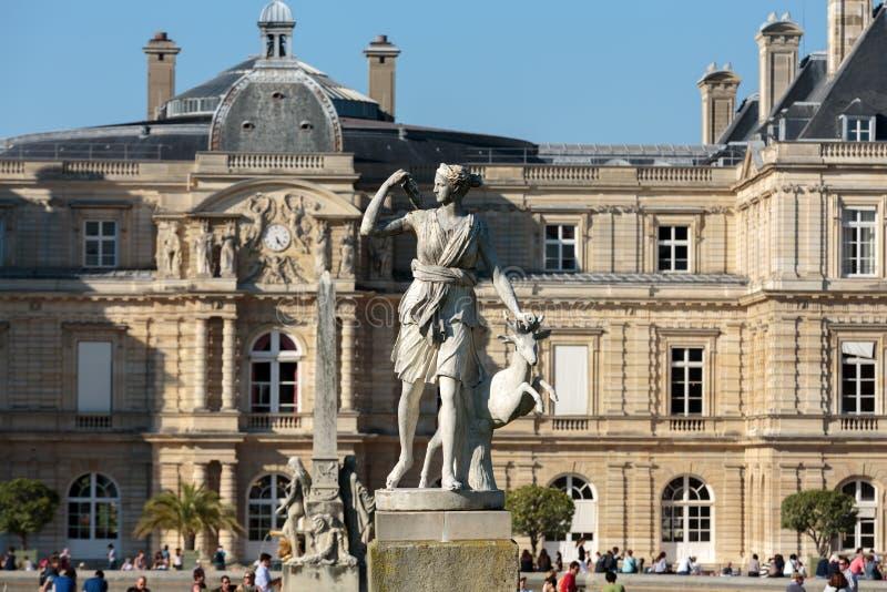 De Tuinen van Parijs - van Luxemburg stock afbeeldingen