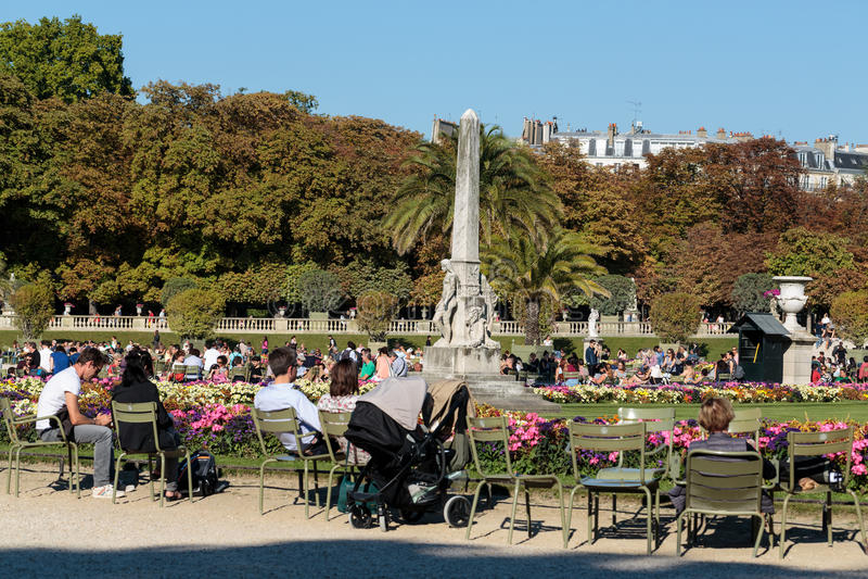 De Tuinen van Parijs - van Luxemburg royalty-vrije stock afbeeldingen