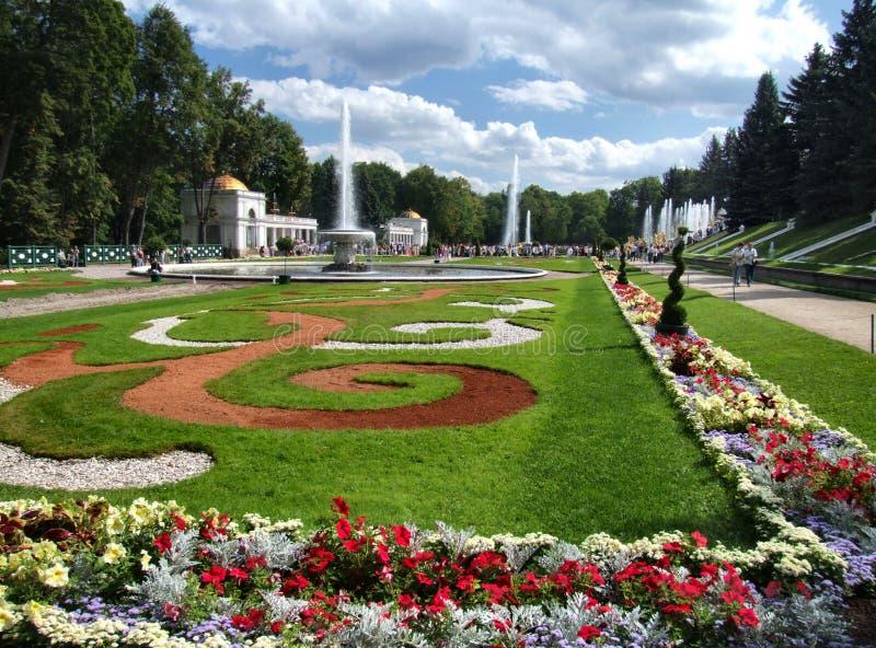 De tuinen van Peterhof royalty-vrije stock fotografie