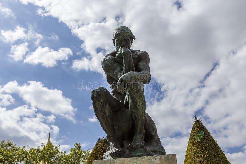 In de tuinen van Rodin musem, Parijs, Frankrijk stock foto