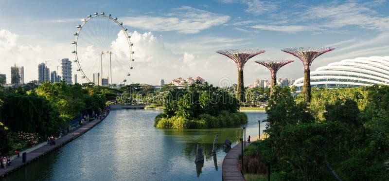 De Tuinen van Singapore door de Baai royalty-vrije stock foto's
