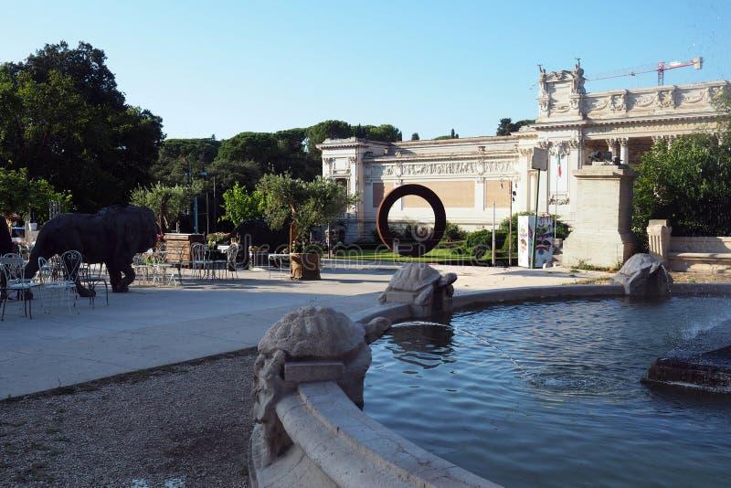 De tuinen van villaborghese in Rome, Itali? royalty-vrije stock foto's