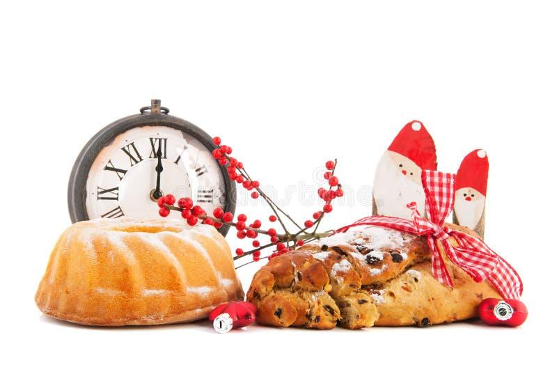 De tulband en het krentenbrood van Kerstmis royalty-vrije stock foto's