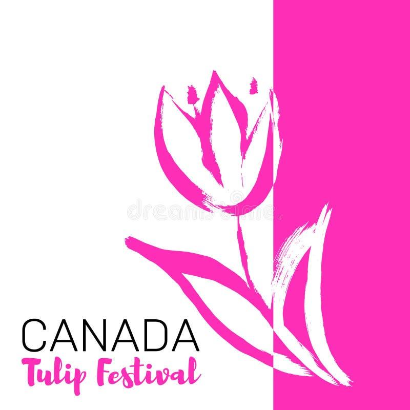 De Tulpenfestival van Canada Mei-festival stock illustratie