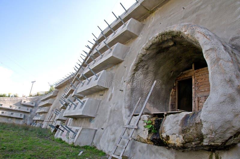 De tunnel in aanbouw stock foto's