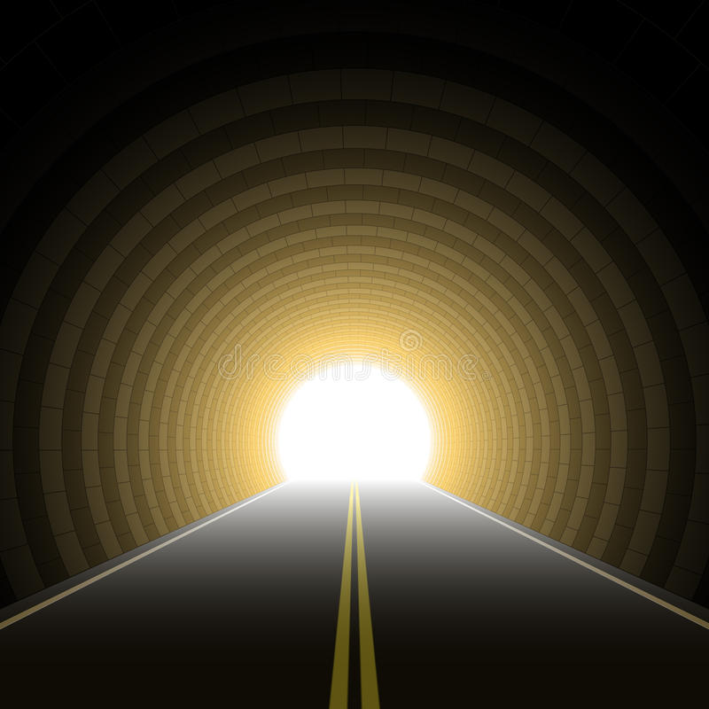 De tunnel van de auto. Vector. stock illustratie