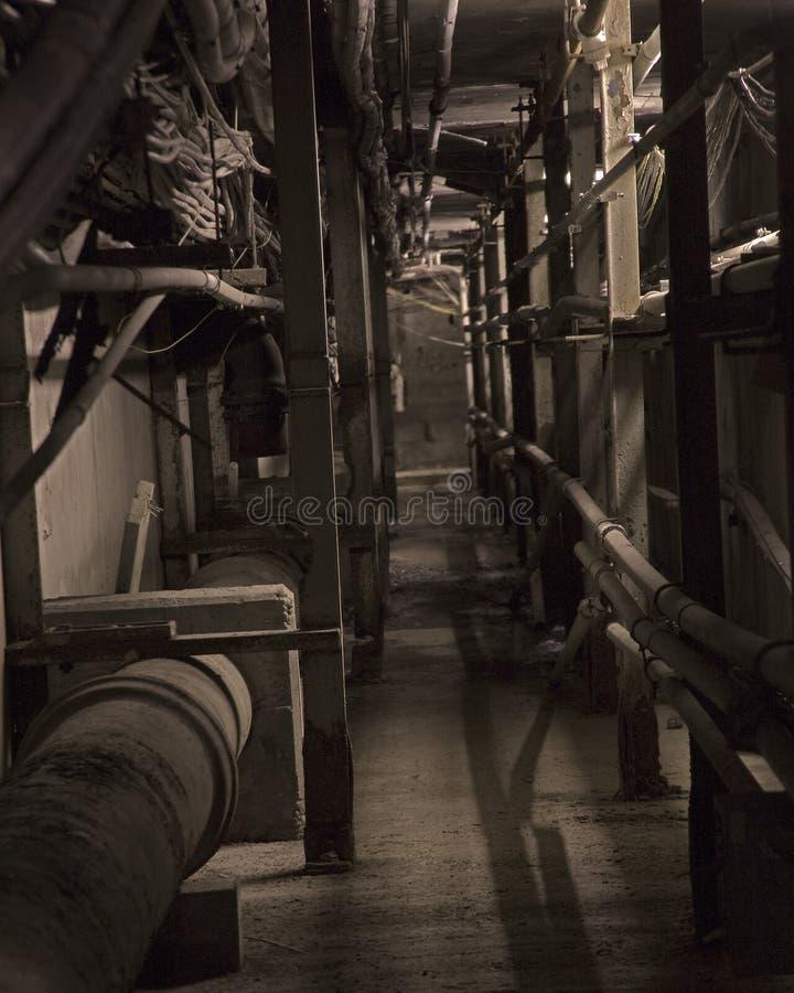 De tunnel van de stoom royalty-vrije stock fotografie