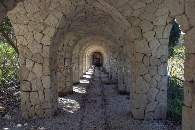 De Tunnel van de Weg van het spoor royalty-vrije stock foto