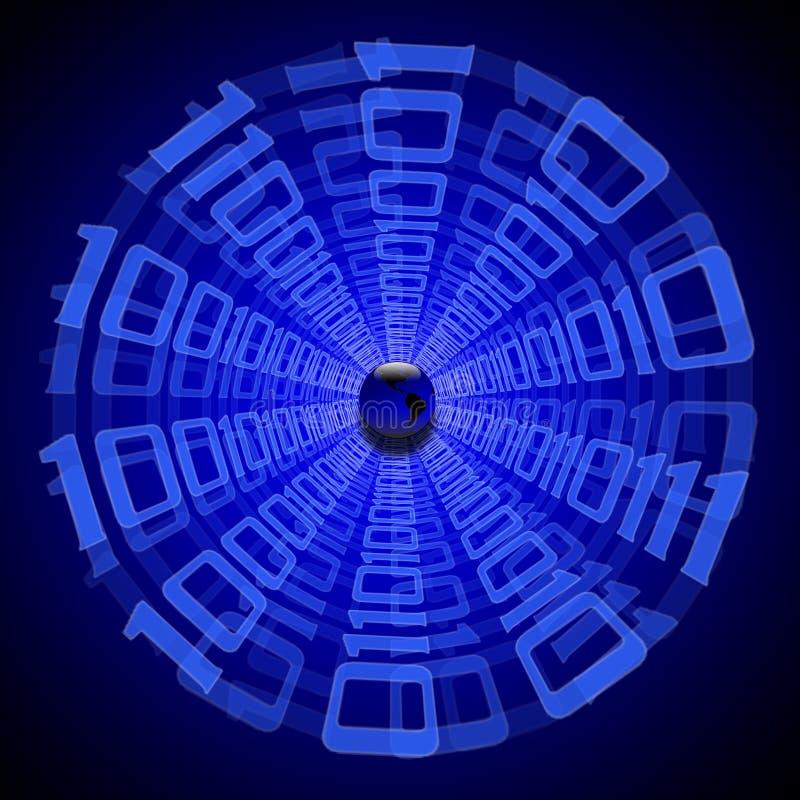De tunnel van gegevens royalty-vrije illustratie