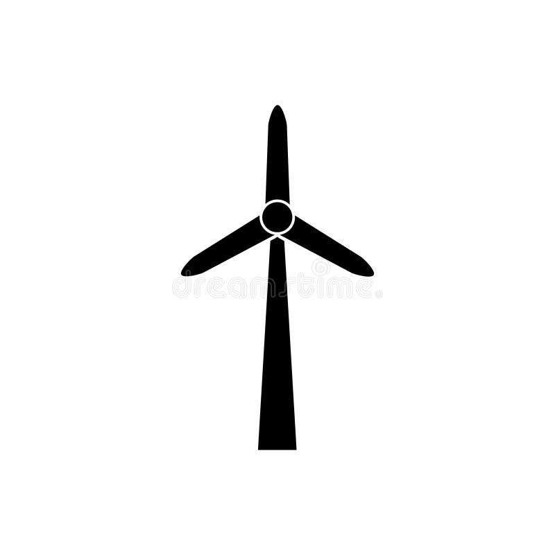 De turbine en de duurzame energie vectorconcept van het pictogrammilieu van de windmolen het alternatieve wind voor grafisch ontw vector illustratie