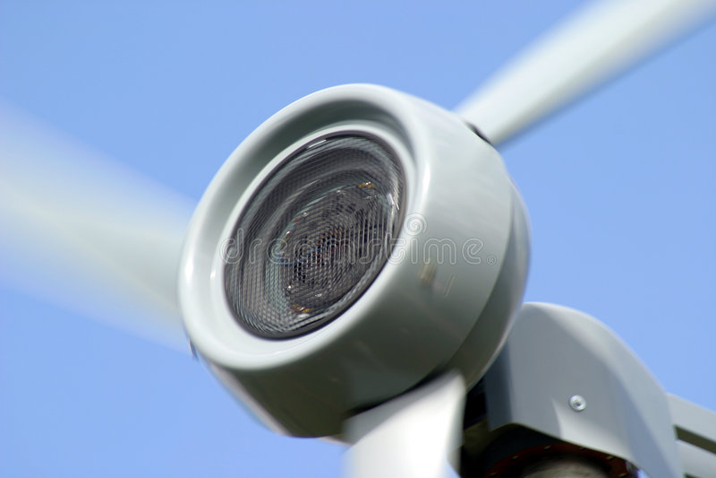 De Turbine van de wind stock foto's