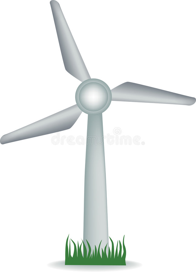 De turbine van de wind vector illustratie