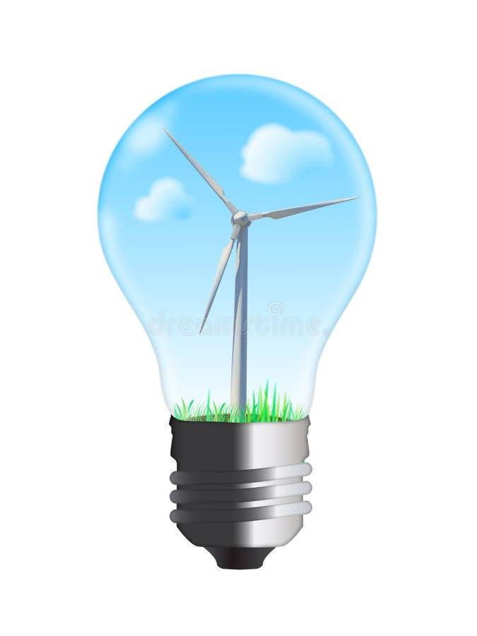 De turbine van de wind in bol royalty-vrije illustratie