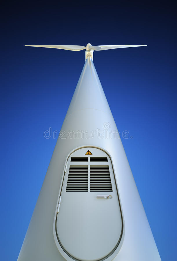 De Turbine van de wind van onderaan royalty-vrije illustratie