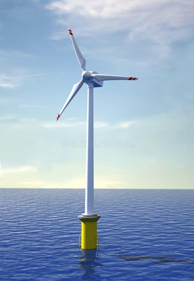 De turbine van de wind zee vector illustratie
