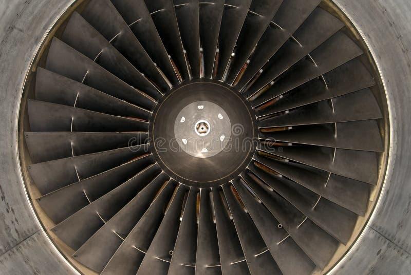 De turbine van het vliegtuig stock afbeelding