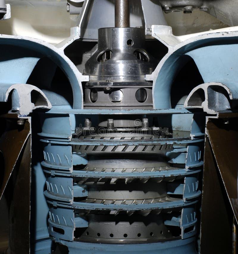 De turbine van vliegtuigen stock afbeelding
