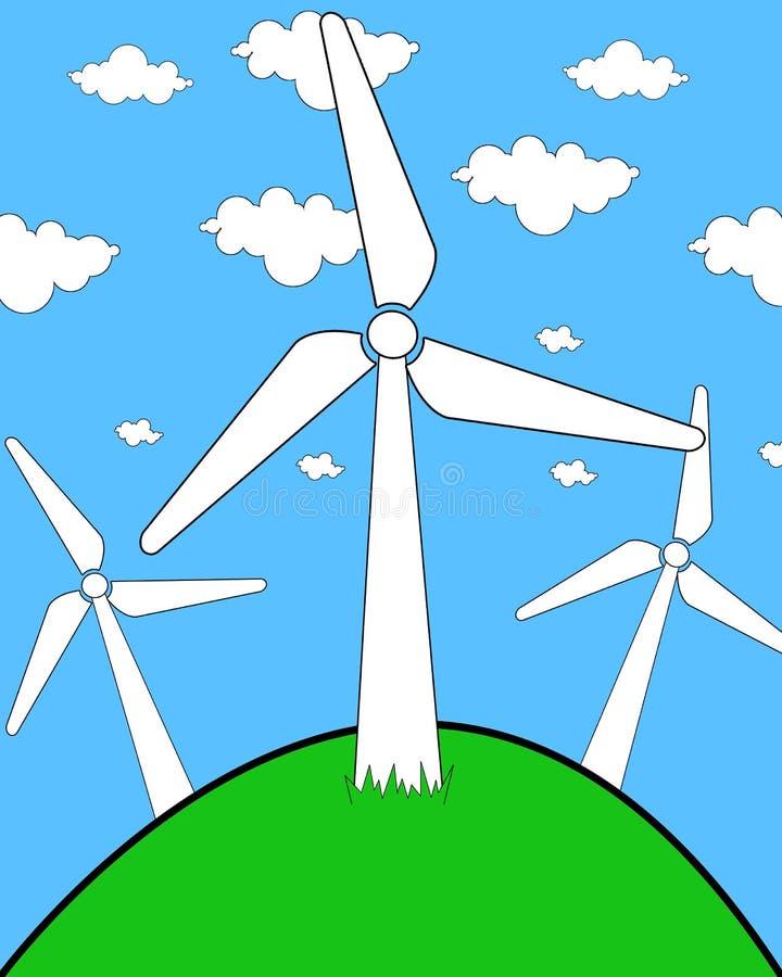 De turbine van de wind illustration stock foto's