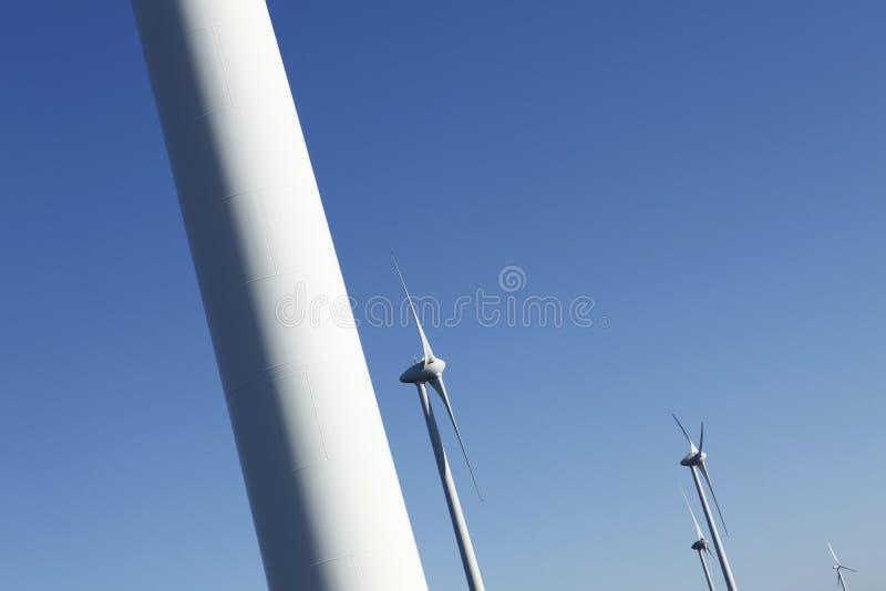 De turbineenergie van de wind royalty-vrije stock fotografie