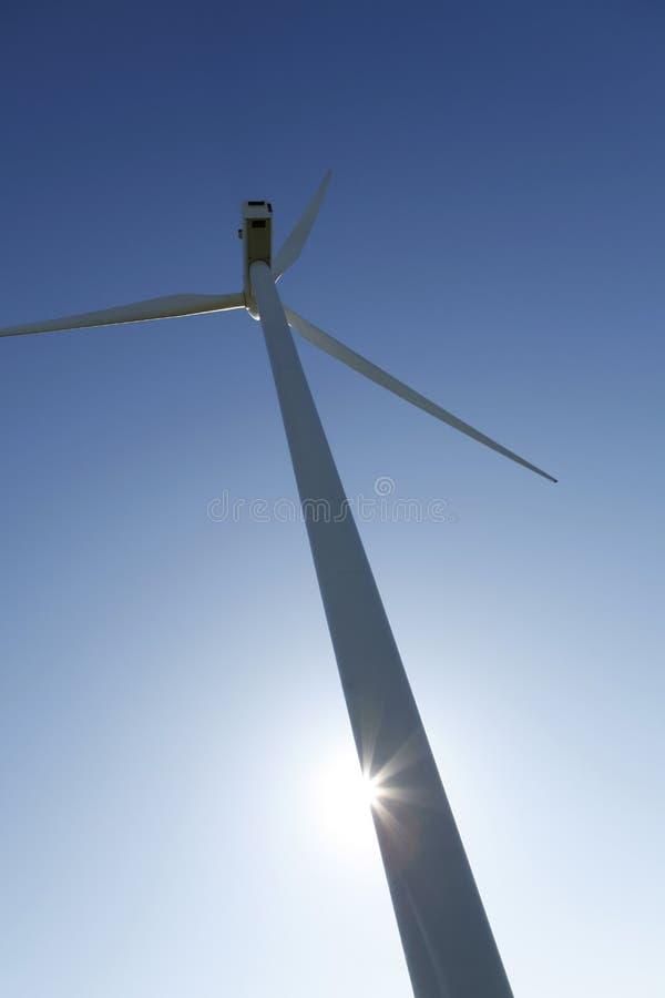 De turbineenergie van de wind royalty-vrije stock foto