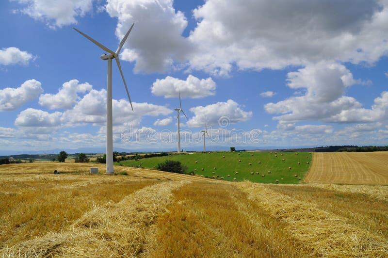 De turbinelandbouwbedrijf van de wind royalty-vrije stock fotografie