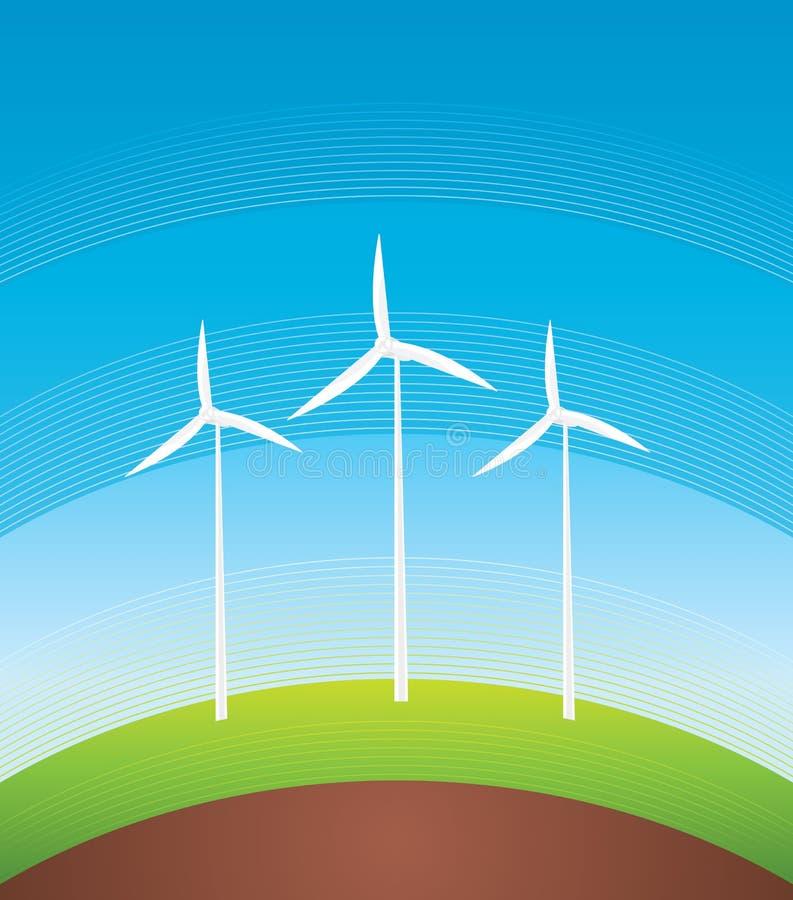 De Turbines van de wind vector illustratie