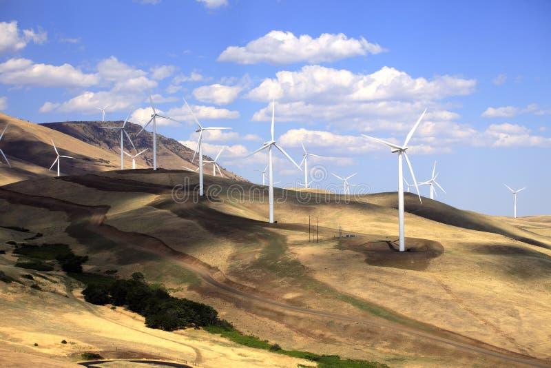 De turbines van de wind. stock afbeelding
