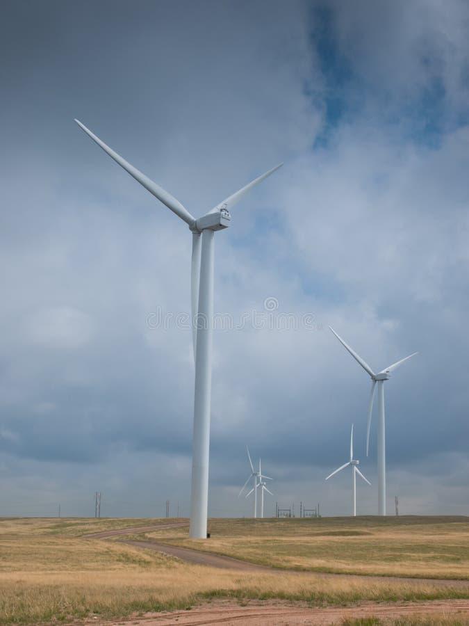 De Turbines van de wind stock fotografie