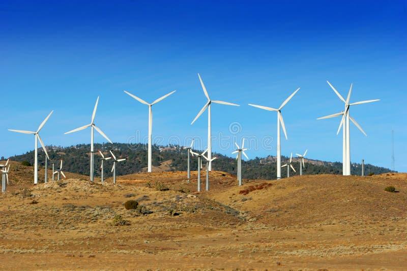 De turbines van de wind stock foto