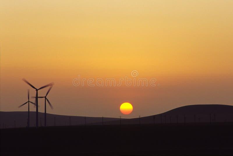 De turbines van de wind royalty-vrije stock afbeelding