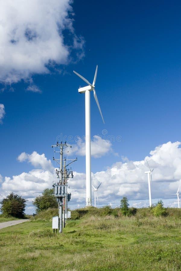 De turbines van de wind/Windmolens stock foto's