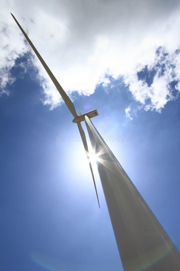 De turbogenerator van de wind stock foto's