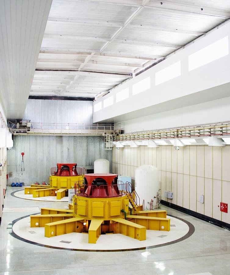De turbogeneratoren van het water stock foto