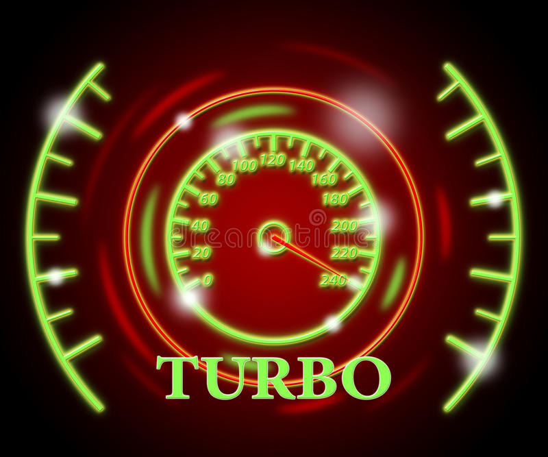 De turbomaat toont Indicatorcompressor en Turbine vector illustratie