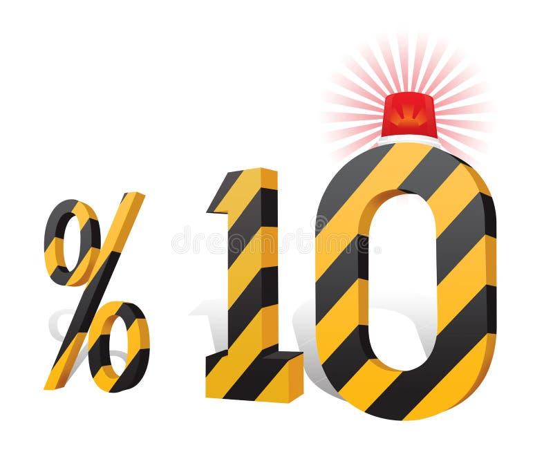 % 10 de turc de remise de pourcentage d'échelle illustration libre de droits