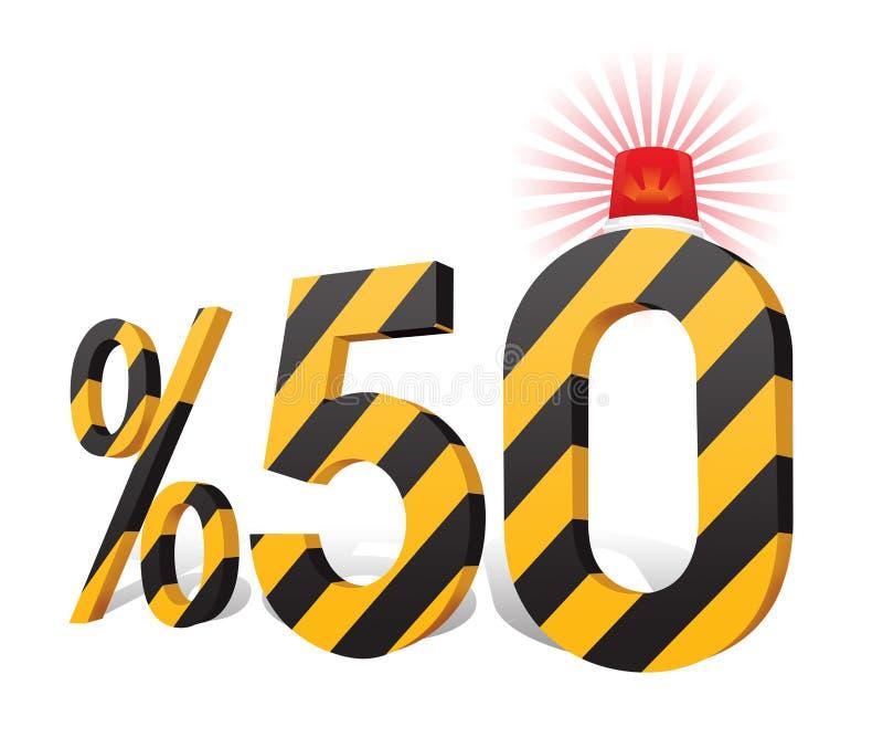 % 50 de turc de remise de pourcentage d'échelle illustration stock