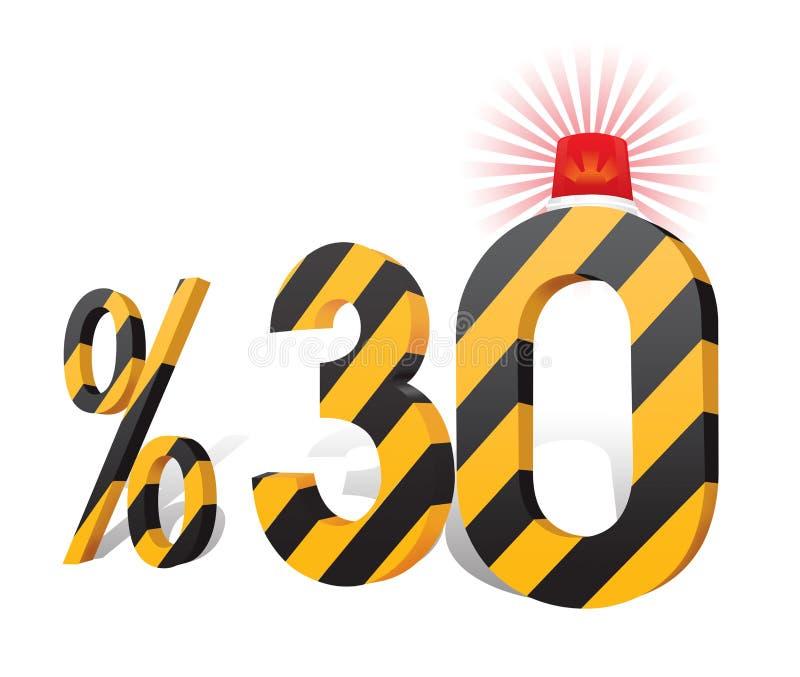 % 30 de turc de remise de pourcentage d'échelle Trente pour cent illustration libre de droits