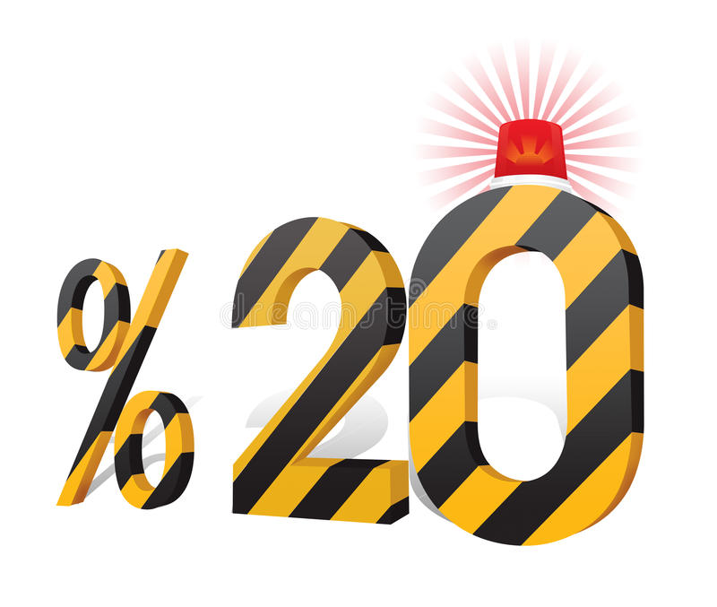 % 20 de turc de remise de pourcentage d'échelle Vingt pour cent illustration libre de droits