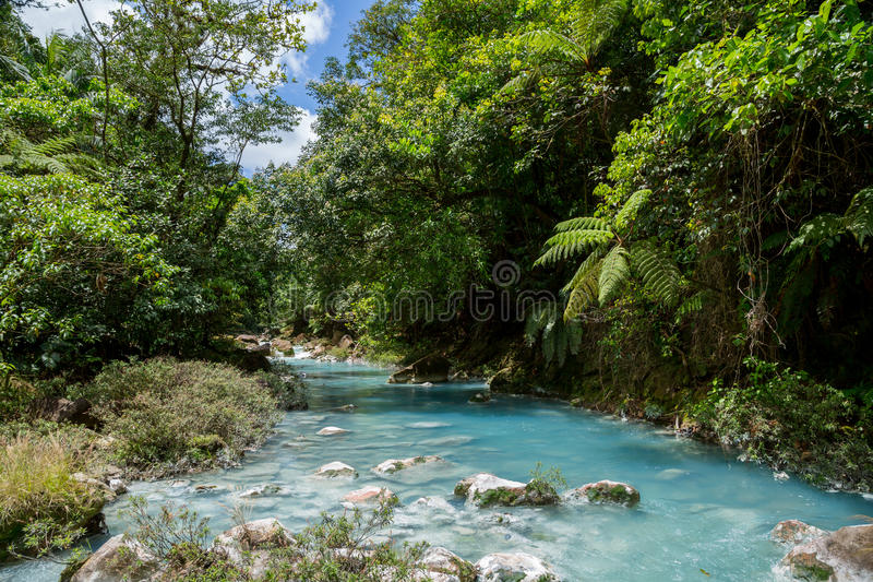 De turkooise rivier Rio Celeste royalty-vrije stock foto's