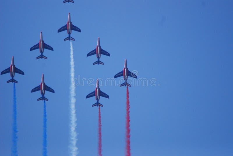 De Turkse Sterren, La ferté-Alais, hemel, lucht tonen, atmosfeer aarde, luchtvaart royalty-vrije stock foto's