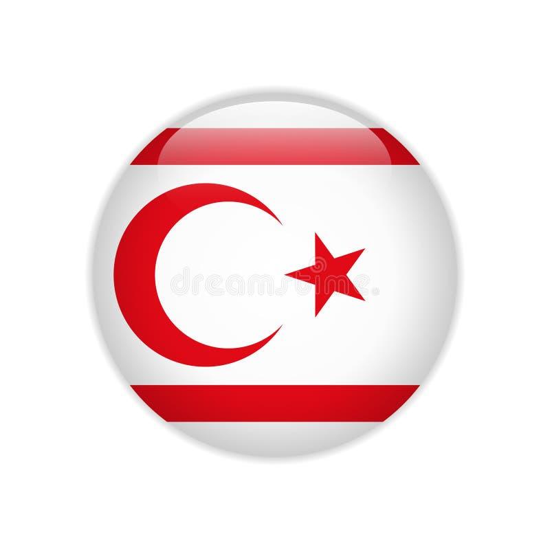 De Turkse vlag van Cyprus van de Republiek Noordelijke op knoop vector illustratie