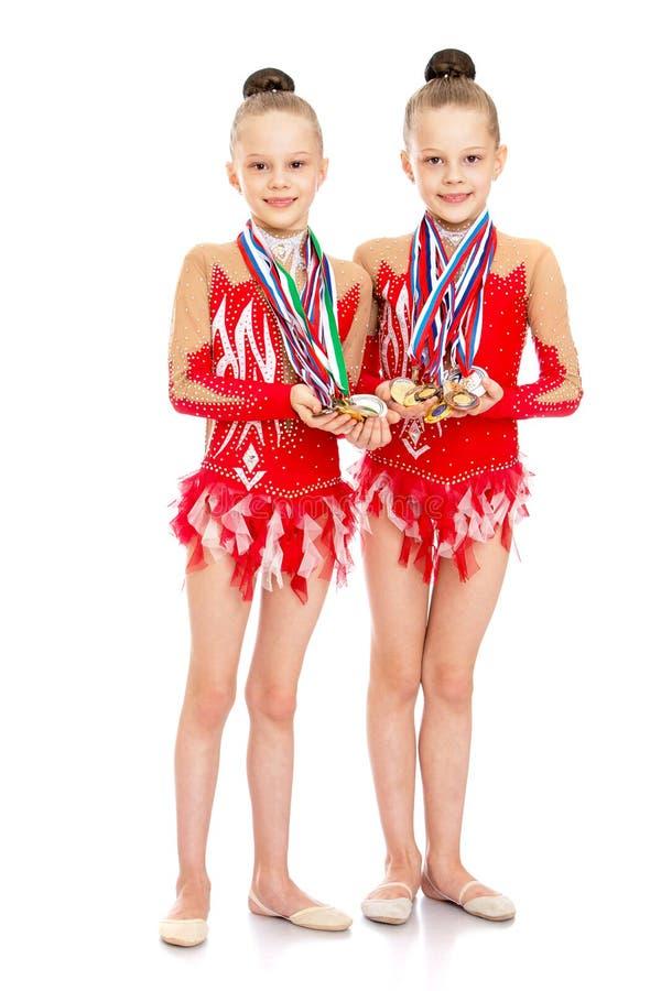 De turners tonen medailles royalty-vrije stock foto