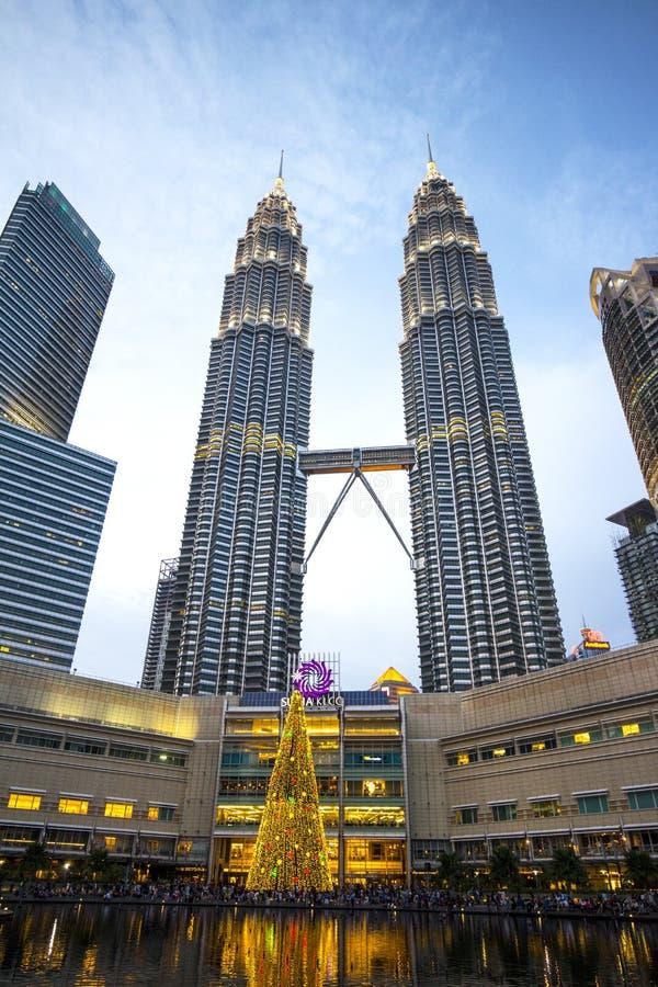 De tweelingtoren van Petronas royalty-vrije stock afbeeldingen