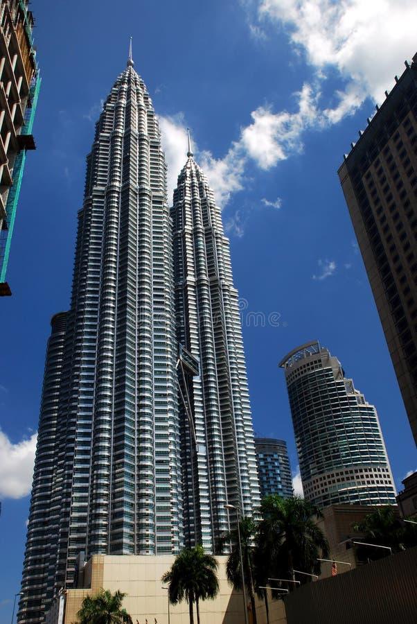 De TweelingTorens van Klcc in Maleisië. royalty-vrije stock afbeelding