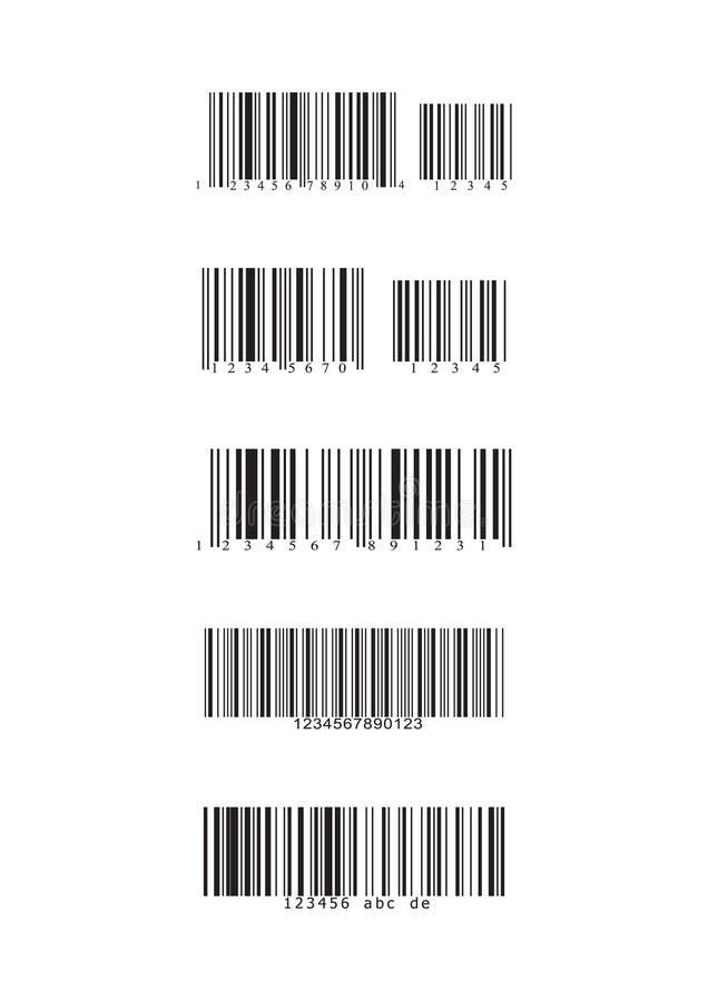 De types van streepjescode stock afbeelding