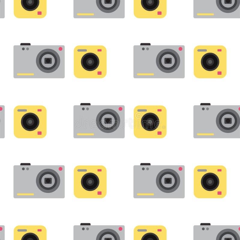 De types van de studio vlakke optische lenzen van de camerafoto vector objectieve retro de fotografieberoeps van het fotografiema vector illustratie