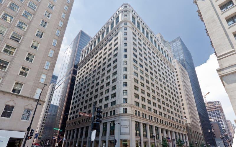 De typische Historische Bouw in Chicago royalty-vrije stock foto's