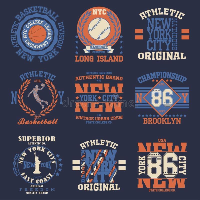 De typografie van New York royalty-vrije illustratie
