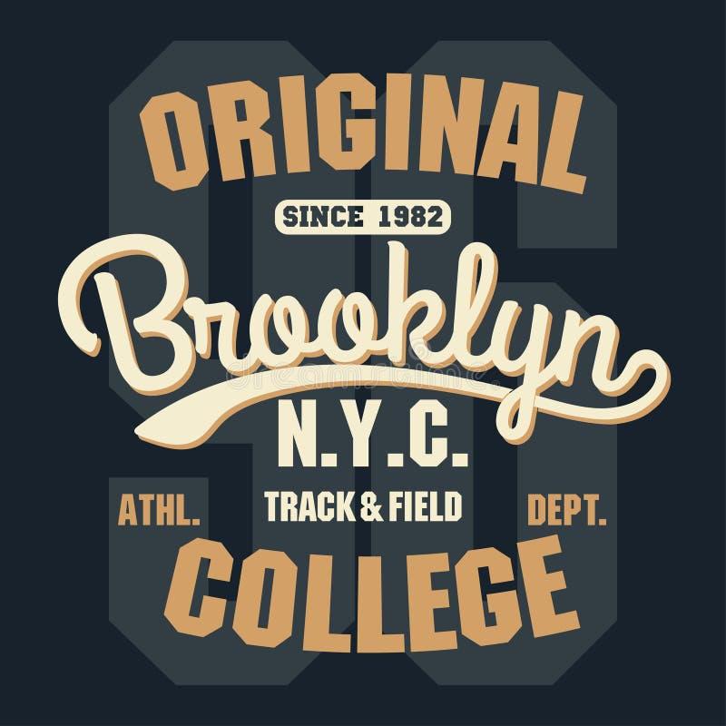 De typografieembleem van de sportslijtage, de grafiek van de t-shirtzegel stock illustratie