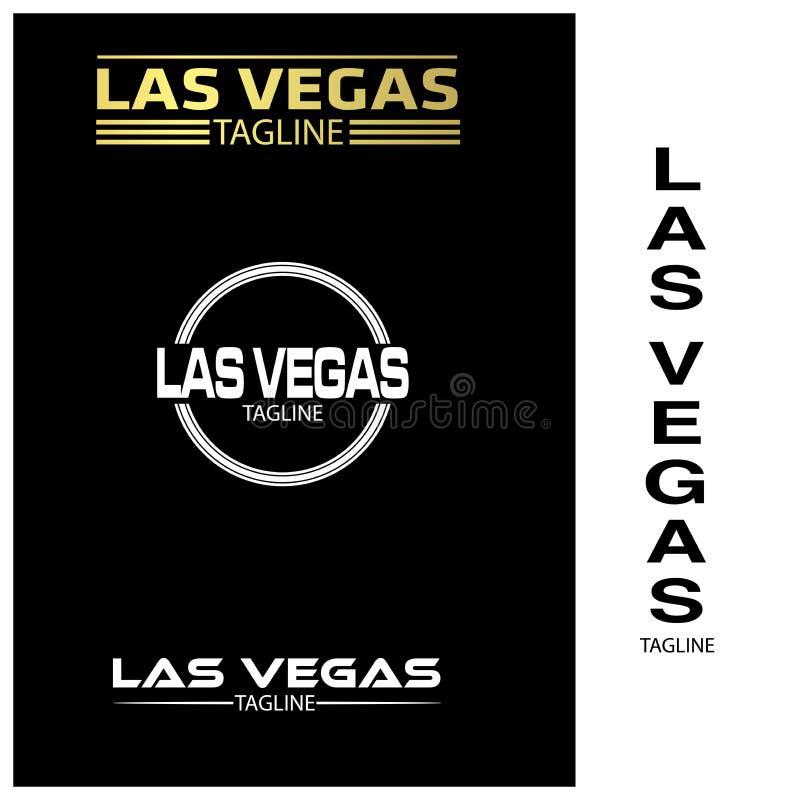 De typografiereeks van Las Vegas, vlakke ontwerpen vector illustratie